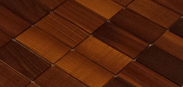 Holz Mosaikfliesen Dunkel 8x4