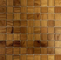 Holz Mosaikfliesen Hell 8x8 Frontansicht