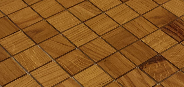 Holz Mosaikfliesen Hell 8x8