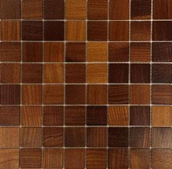Holz Mosaikfliesen Dunkel 8x8 Frontansicht