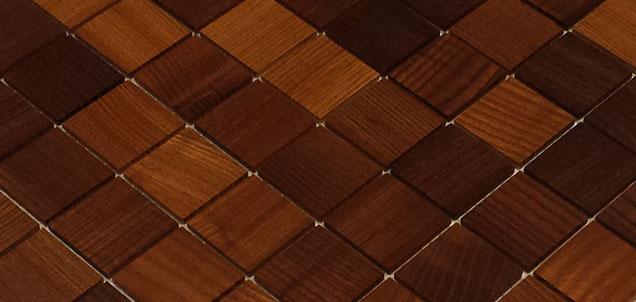 Holz Mosaikfliesen Dunkel 8x8