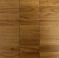 Holz Mosaikfliesen Hell 9x3 Frontansicht