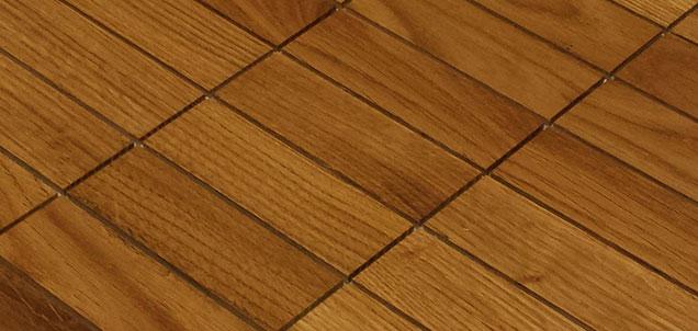 Holz Mosaikfliesen Hell 9x3