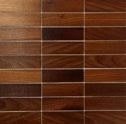 Holz Mosaikfliesen Dunkel 9x3 Frontansicht