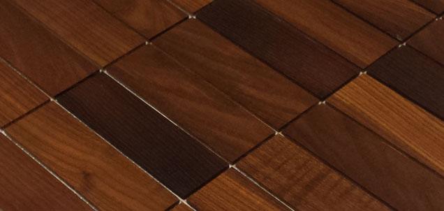 Holz Mosaikfliesen Dunkel 9x3