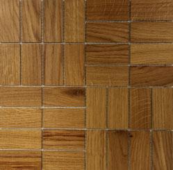 Holz Mosaikfliesen Hell comfort Frontansicht